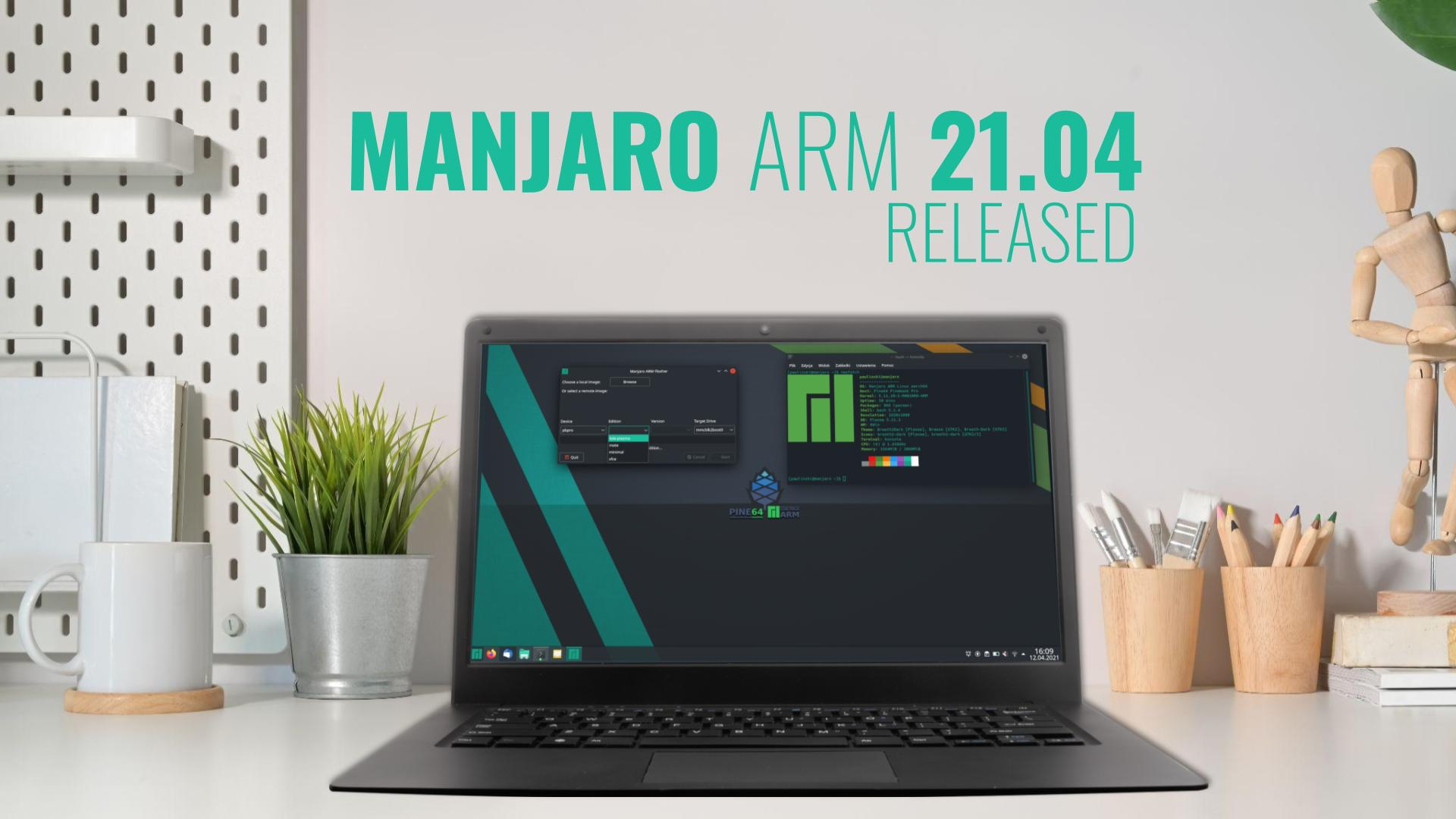 Manjaro ARM 21.04 released for Pine64 devices