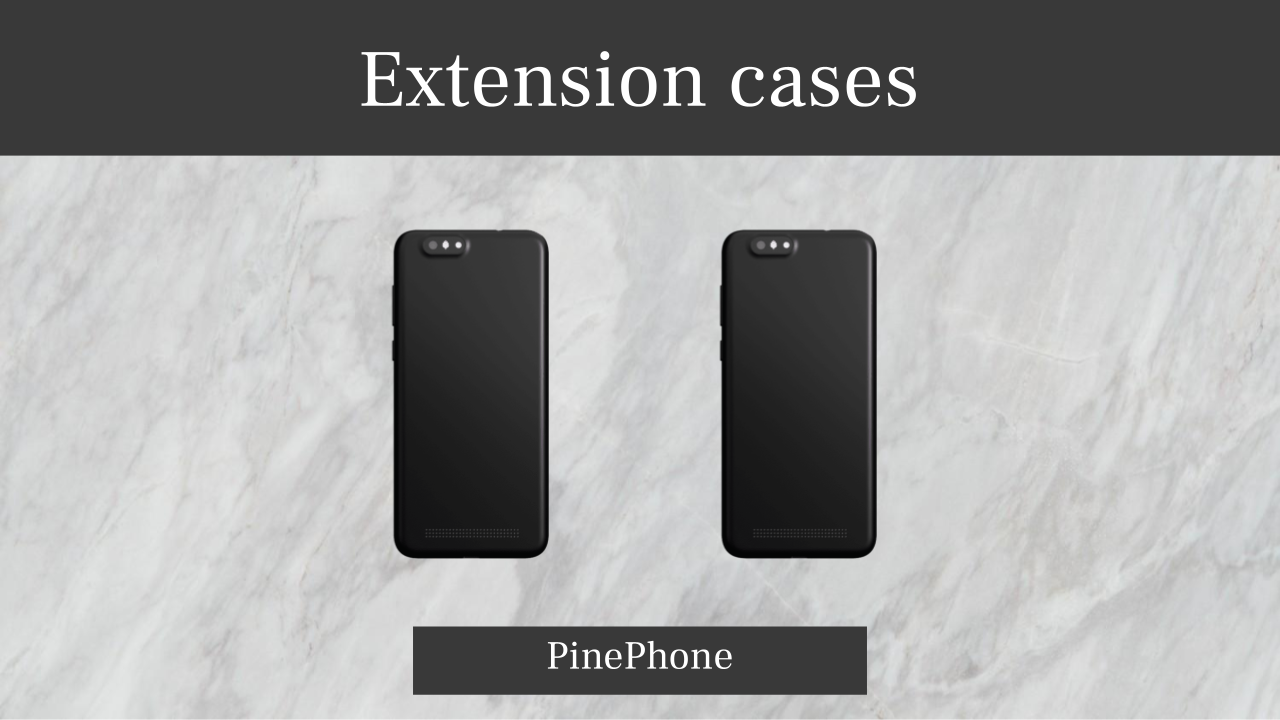 Extension cases for PinePhone are working!