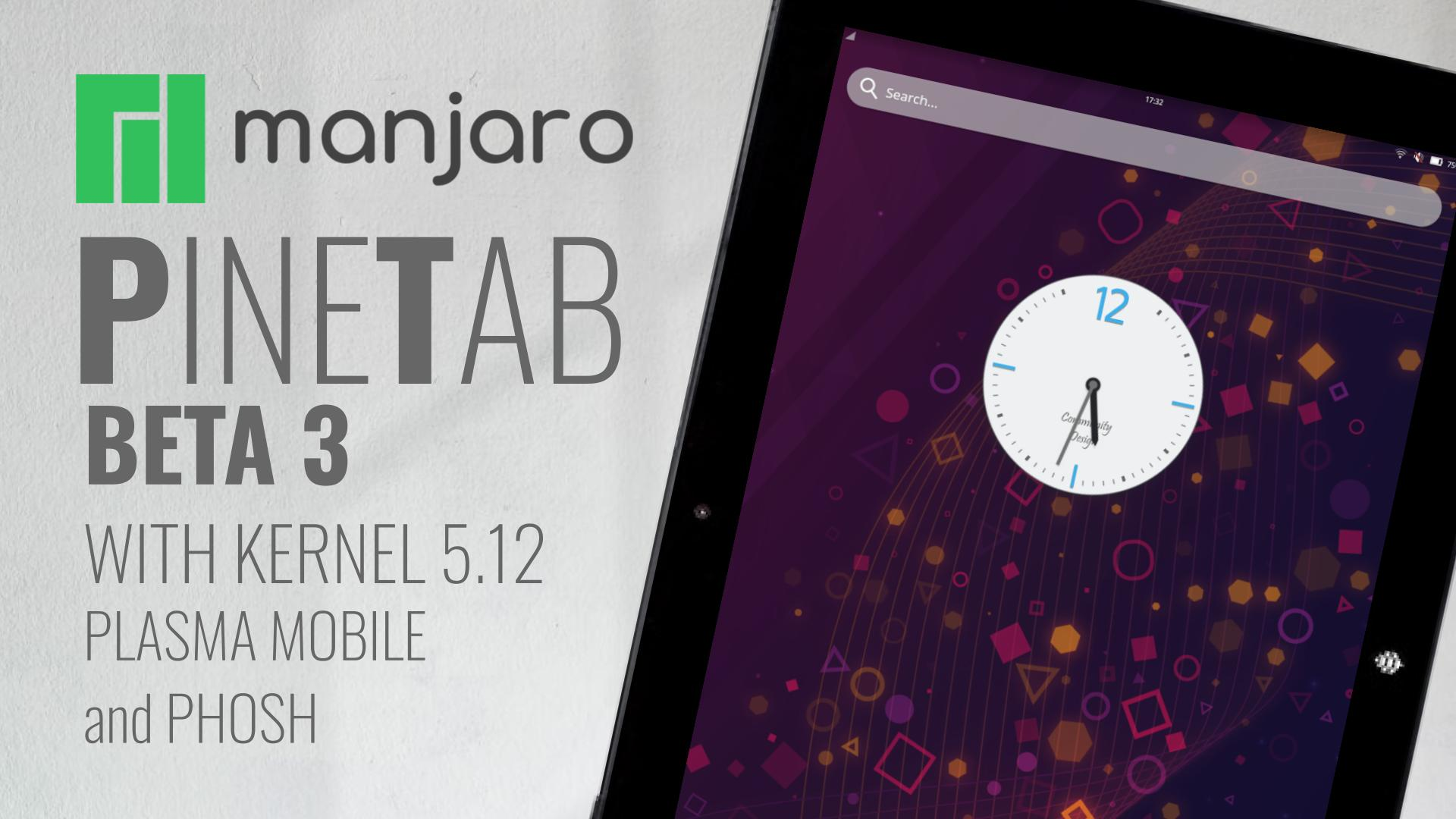 Manjaro ARM Beta3 for PineTab