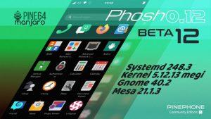 Manjaro ARM Beta12 of Phosh for PinePhone