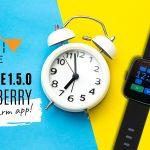 InfiniTime 1.5.0 Huckleberry with alarm app!